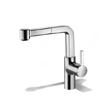 KWC Ava single lever mixer with pull-out spray