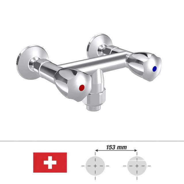 """KWC Gastro two handle, kitchen mixer, for Switzerland hose connection G 3/4"""""""