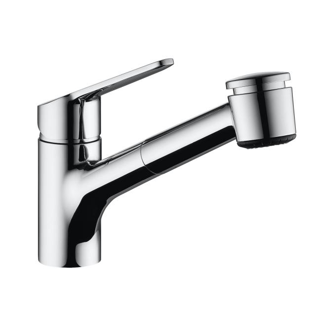 KWC Isla single lever kitchen mixer with pull-out spray