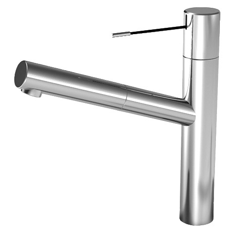 KWC Ono single lever mixer with pull-out spout stainless steel