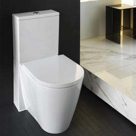Kartell by Laufen close-coupled, floorstanding washdown toilet, rimless white, with Clean Coat