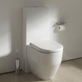Kartell by Laufen floorstanding cistern white, rear water connection inner top left