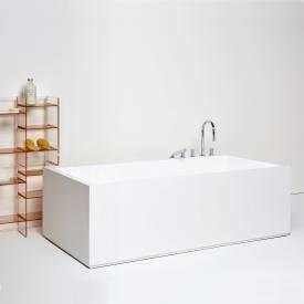 Kartell by Laufen freestanding rectangular bath with LED lighting, foot end right