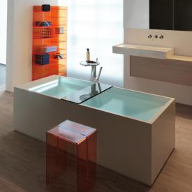 Kartell by Laufen freestanding rectangular bath with LED lighting