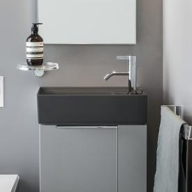 Kartell by Laufen hand washbasin, with concealed waste matt graphite, with 1 tap hole