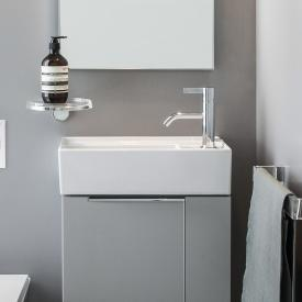 Kartell by Laufen hand washbasin, with concealed waste white, with Clean Coat, with 1 tap hole