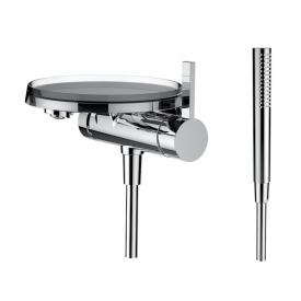 Kartell by Laufen single lever bath mixer with decorative disc
