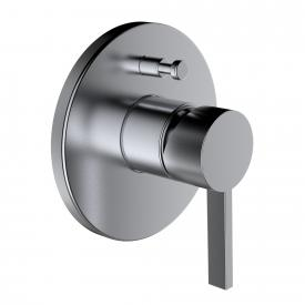 Kartell by Laufen single lever trim set for concealed bath mixer  with vacuum breaker brushed stainless steel