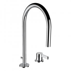 Kartell by Laufen two hole basin mixer chrome, with pop-up waste set