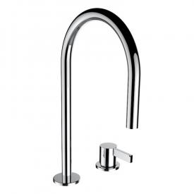Kartell by Laufen two hole basin mixer chrome, without waste set