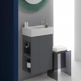 Kartell by Laufen vanity unit for hand washbasin with 1 door front slate / corpus slate