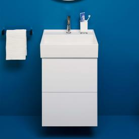 Kartell by Laufen vanity unit for hand washbasin with 2 pull-out compartments front matt white / corpus matt white