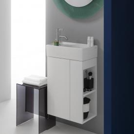 Kartell by Laufen vanity unit with 1 door front matt white / corpus matt white