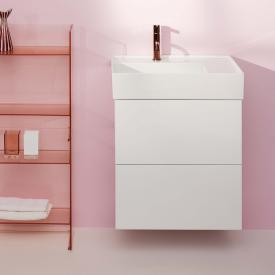 Kartell by Laufen vanity unit with 2 pull-out compartments front matt white / corpus matt white