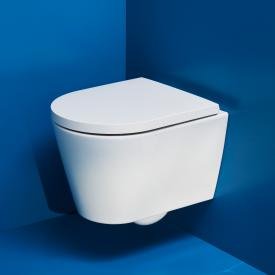 Kartell by Laufen wall-mounted washdown toilet compact, rimless white, with CleanCoat