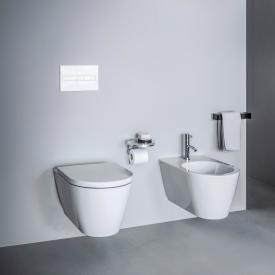Kartell by Laufen wall-mounted washdown toilet, rimless white, with Clean Coat