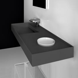 Kartell by Laufen washbasin matt graphite, with 1 tap hole