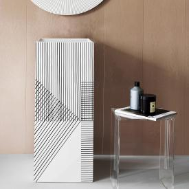 Kartell by Laufen washbasin, freestanding white/grey, without tap hole