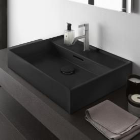 Kartell by Laufen washbasin matt graphite, with tap hole, grounded