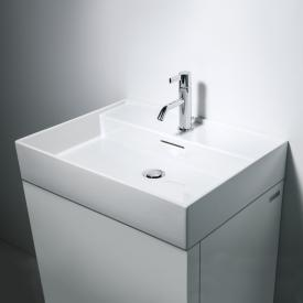 Kartell by Laufen washbasin white, with CleanCoat (LCC), with 1 tap hole, ungrounded