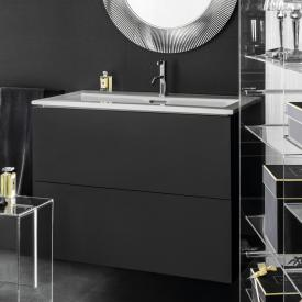 Kartell by Laufen washbasin with vanity unit with 2 pull-out compartments front slate / corpus slate