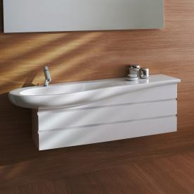 Laufen Alessi One vanity unit with 2 pull-out compartments, 1 washbasin bowl front white / corpus white