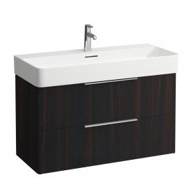 Laufen Base for Val vanity unit with 2 pull-out compartments front dark elm / corpus dark elm