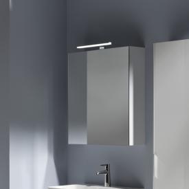 Laufen Base mirror cabinet with LED lighting matt white, hinged left