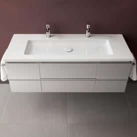 Laufen Case for Living Square vanity unit with 2 pull-out compartments and 2 doors front white gloss / corpus white gloss
