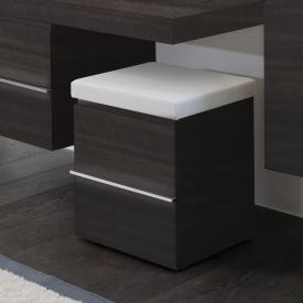 Laufen Casestorage unit on castors with 2 pull-out compartments front anthracite oak / corpus anthracite oak
