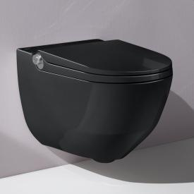 Laufen Cleanet Riva complete shower toilet set with toilet seat black, with Clean Coat