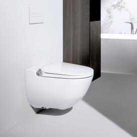 Laufen Cleanet Riva complete shower toilet set, with toilet seat white with Clean Coat
