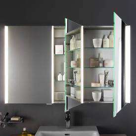 Laufen frame 25 LED mirror cabinet white high gloss sides