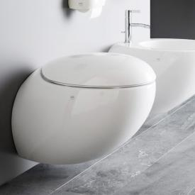 Laufen IL BAGNO ALESSI One wall-mounted washdown toilet, rimless, white, with Clean Coat