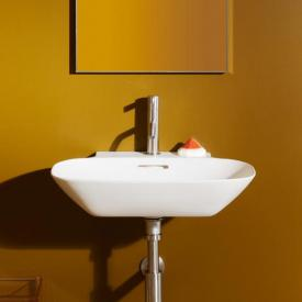 Laufen INO hand washbasin white, with Clean Coat with 1 tap hole, ungrounded, with overflow