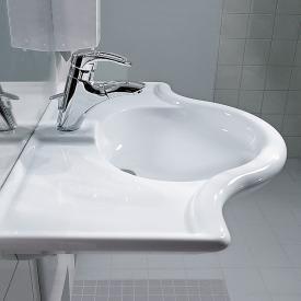 Laufen Libertyline washbasin, wheelchair access white, with 1 tap hole