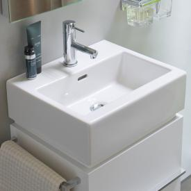 Laufen Living City hand washbasin with 1 tap hole, grounded