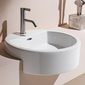 Laufen Living City semi-recessed washbasin with 1 tap hole