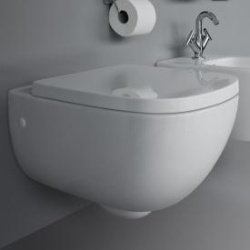 Laufen Palomba wall-mounted, washdown toilet, rimless white, with Clean Coat