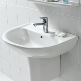 Laufen Pro B washbasin white, with CleanCoat, with 1 tap hole, with overflow