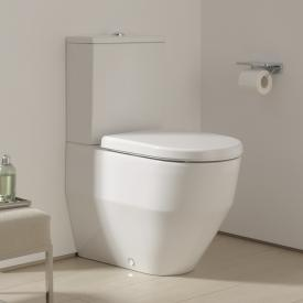 Laufen Pro floorstanding, close-coupled, washdown toilet white, with flushing rim, with CleanCoat