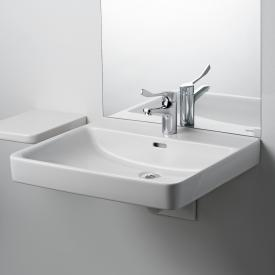 Laufen Pro Liberty washbasin, barrier-free white, with 1 tap hole, with overflow