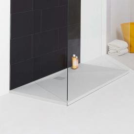 Laufen PRO rectangular shower tray, drain on the long side white