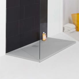 Laufen PRO rectangular shower tray, drain on the long side light grey