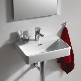 Laufen Pro S hand washbasin white, with 1 tap hole, ungrounded, with overflow