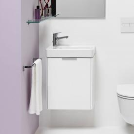 Laufen Pro S hand washbasin with Base vanity unit with 1 door white, with Clean Coat, with 1 tap hole
