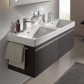 Laufen Pro S vanity unit with 2 pull-out compartment front wenge / corpus wenge, with inner drawer