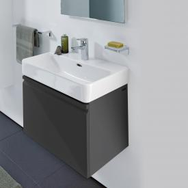 Laufen Pro S vanity unit with 1 pull-out compartment front graphite / corpus graphite, without inner drawer