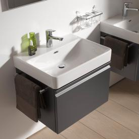 Laufen Pro S vanity unit with 1 pull-out compartment front graphite / corpus graphite, with inner drawer