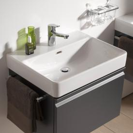 Laufen Pro S washbasin white, with 1 tap hole, ungrounded, with overflow